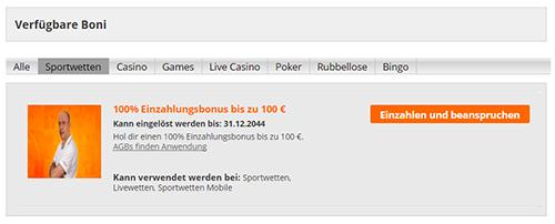 Sportwetten Bonus - 164792