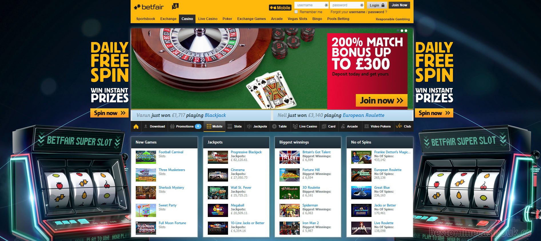 Review slots Betfair - 645579