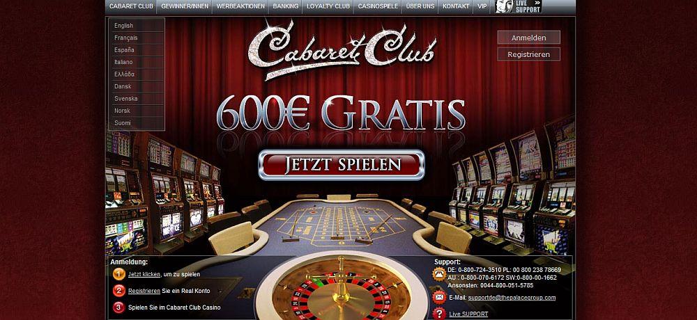 Auszahlungsquote Spielautomaten Cabaret - 406592