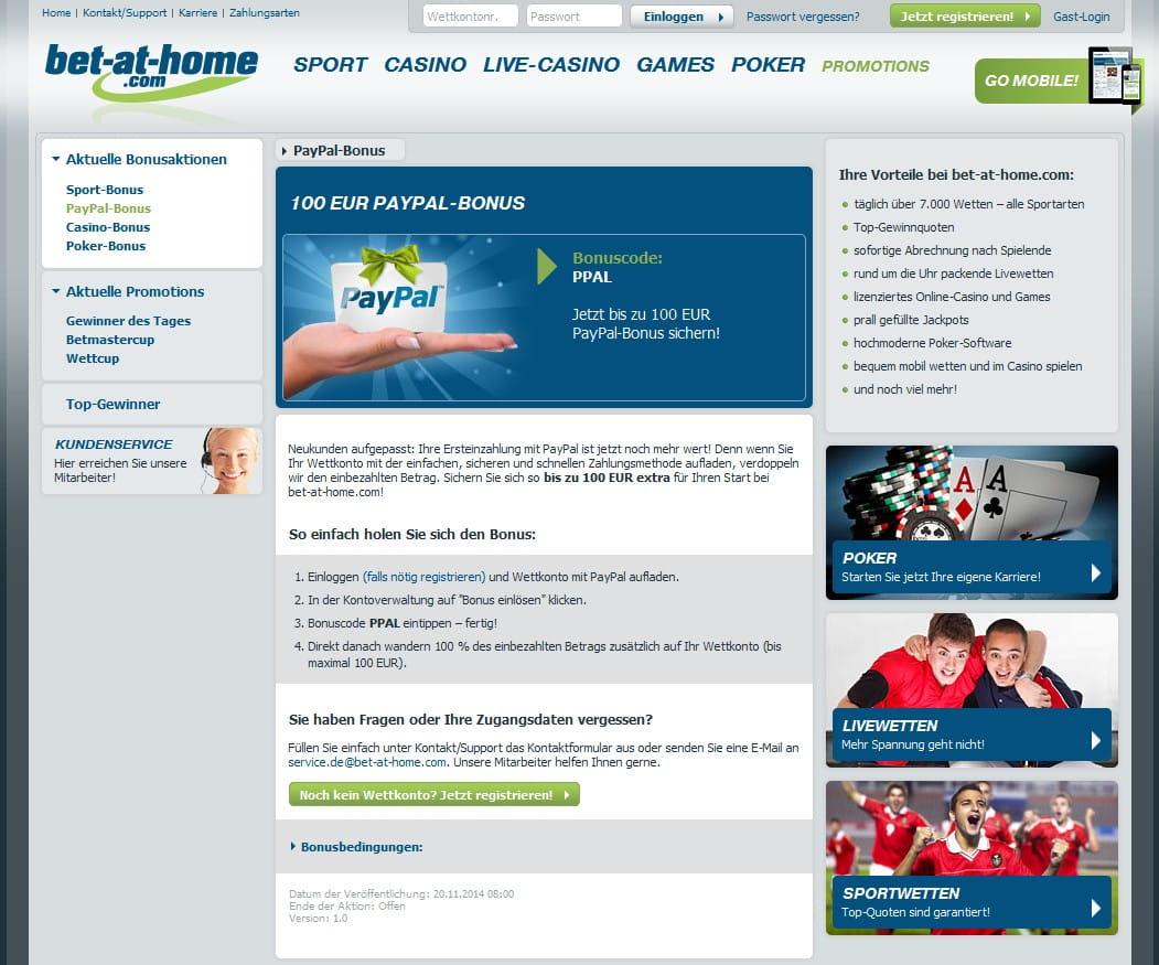 Sportwetten Bonus Paypal - 992408